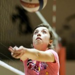 A Canutillo player concentrates on the ball