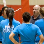 NMSU head coach Michael Jordan discusses strategy with the Cleveland Storm.