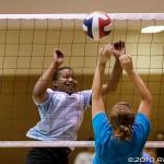 Chapin's Nikki Fults has fun at the net