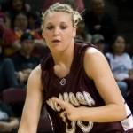 Hannah playing basketball at the 2008 state championships