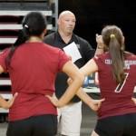 Coach Jordan addresses the team