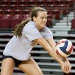 Stephanie Ziegler gets set for the dig